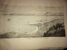 ALGÉRIE. VUE D'ALGER Et De La RADE  Prise Du Cap Caxinés. Lithographie de 1830