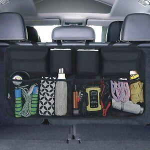 HITLINEUK Car Boot Organiser Kick Mats Car Organiser Car Backseat Cover (Large)