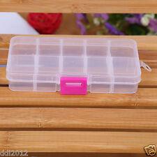 Plastic Slots Adjustable Jewelry Storage Box Case Craft Organizer Beads New