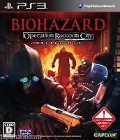 Used PS3 Biohazard Racoon SONY PLAYSTATION 3 JAPAN JAPANESE JAPONAIS IMPORT