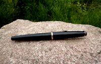 alter Montblanc No. 32 Füllfederhalter Kolbenfüller schwarz 585er Goldfeder