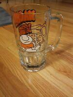 Vintage Tom Wilson Ziggy Macho Mug 1979 Large Heavy Beer 32oz Drinking Glass.