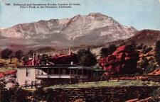 Co, Colorado Balanced & Steamboat Rocks~Garden of Gods c1910's Postcard