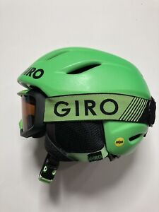 Giro 9 Jr Ski Helmet MIPS and Giro Grade Goggle Set Small 52-55cm