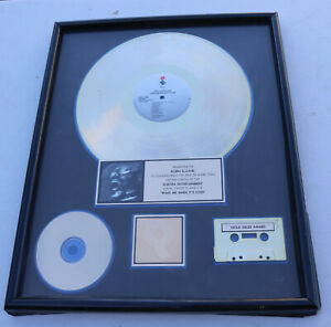 Faster Pussycat Wake Me When It's Over Gold RIAA Certified Record Award Plaque
