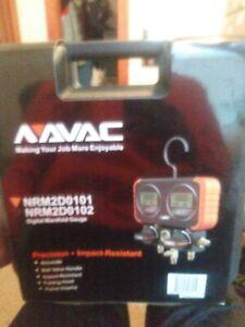 NAVAC NRM2D0101 Digital Manifold Guage with Hoses