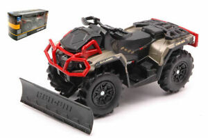 Model motorcycle Outlander Xmr 1000R Can-Am With Snow Plow 1:20
