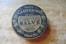 original advertising tin container, white Cloverine brand salve,Wilson chemical