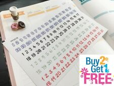 PP451B --  Date Covers Numbers Stickers Planner Stickers for Erin Condren 124pcs