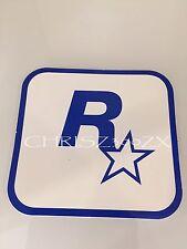 """Grand Theft Auto V 5 Rockstar Games LOGO Sticker Decal White Blue 3"""" x 3 1/16"""""""