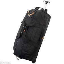 Timberland Unisex Waterresistant Wheeled Duffle Black Luggage Travel Bag J0843