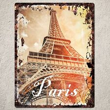 PP0089 Vintage Paris Sign Rustic Parking Plate Home Restaurant Cafe Gift Decor