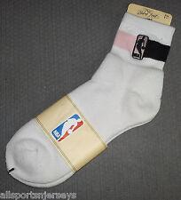 NBA NWT ATHLETIC SOCKS - GENERIC NBA - PINK / BLACK ANKLE