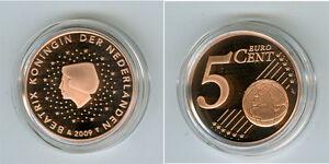 Pays-Bas 5 Cent Pp / Proof (Choisissez Entre Les Millésimes : 1999-2019)