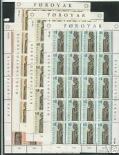 FAROE ISLANDS # 55-58 Complete Set of 4 Full Sheets of 20