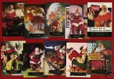 1993 COCA COLA Series 1 Sundblom SANTA 10 card foil set BEAUTIFUL