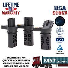 Set of 3 Camshaft Crankshaft Position Sensor 23730-AL60A for Infiniti Nissan