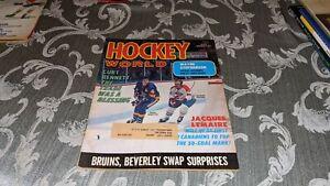 1973 Hockey World NHL WHA Magazine Jacques Lemaire