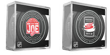 DETROIT RED WINGS OFFICIAL GAME PUCK PKG JOE LEWIS ARENA & LITTLE CAESARS ARENA