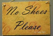 No Shoes Please Flip Flops Background Welcome Shabby Rustic Chic Door Sign