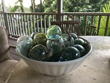 Vintage Japanese Glass Fishing Floats, 2� Lot Of 3 Per Buy It Now