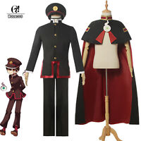 Toilet-Bound Hanako-kun Hanako-kun Cosplay Costume Men Uniform Suit Hat Cape Lot