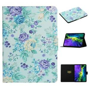 Flower Leather Smart Case Cover For iPad 5 6 7 8th 9.7 10.2 Air 10.9 Pro 11 Mini