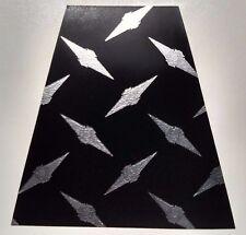 8 Reflective Black Diamond Plate Fire Helmet Tetrahedrons Tets Trapezoids