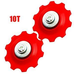 2x Bike 6/7/8 Speed Rear Derailleur Jockey Wheels Guide Wheel Set 10T/13T/15T