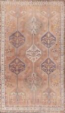 Muted Tribal Vintage Geometric Lori Handmade Wool Area Rug All-Over Carpet 5x8