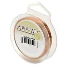 Artistic Wire Bare Copper 26 gauge 30 yards 41119 Round Shiny Craft Wire Jewelry