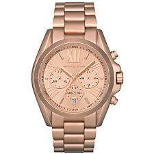 NEW MICHAEL KORS MK5503 LADIES ROSE GOLD BRADSHAW WATCH - 2 YEARS WARRANTY