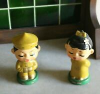 Vintage Set of  Chinese Composition Bobbleheads