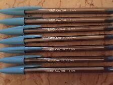 Lot of 7 LIGHT BLUE Bic Cristal Ballpoint Pens 1.6mm, Xtra-Bold