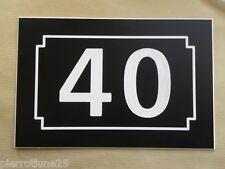 NUMERO DE RUE personnalisée plaque 150 x 100 gravée BIS TER ... 1 à 5 chiffres,