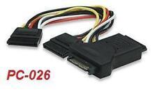 15-Pin SATA Power Three -Way Splitter Cable, PC-026