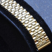 Vintage watch Swiss Made yellow gold-plated NSA watch bracelet 14mm ends NOS