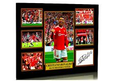 More details for new cristiano ronaldo man utd 2021 framed a4 canvas tribute signed