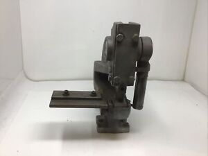 HEINRICH HEAVY DUTY C-FRAME BENCH TOP PUNCH PRESS MODEL #6 MADE IN USA