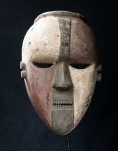 Salampasu Face Mask, D.R. Congo, African Tribal Art