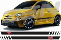 Fiat 595 Abarth turismo competizione Stripes Graphics Decals Stickers OEM style