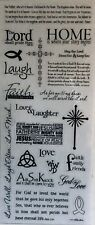 Religious Bible Verse Phrases Faith Scrapbook Stickers 5x12""