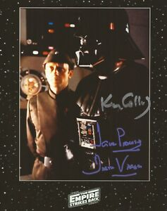 Dave Prowse and Ken Colley hand multi signed photo Star Wars UACC lifetime COA
