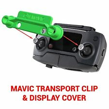 DJI Spark MAVIC PRO - Screen Cover & Transport Clip Controller GREEN USA seller