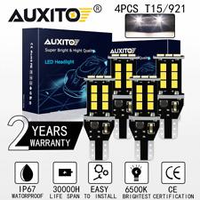 4X CANBUS No Error 912 T15 W16W 921 LED Reverse Backup Light Tail Bulb White 12V