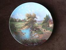 Seltmann Plate: Angler's Pleasure, Fishing, Luckel's Idyllic Village Life