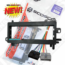 CJ1282B Single Din Radio Install Kit & Wires for Dodge, Car Stereo Dash Mount