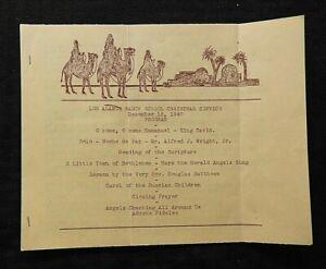 """1940 'LOS ALAMOS RANCH SCHOOL CHRISTMAS SERVICE PROGRAM"""" NM New Mexico Project Y"""