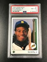 KEN GRIFFEY JR 1989 UPPER DECK #1 STAR ROOKIE RC NM-MINT PSA 8 MARINERS HOF (C)
