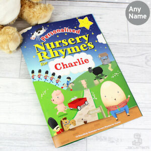 PERSONALISED Nursery Rhymes Book. Childrens STORY BOOK with Childs Name Gift